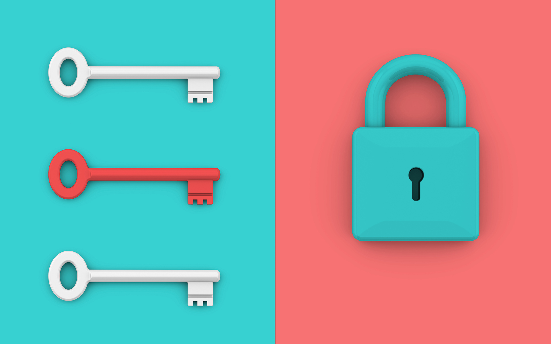 How Being Held Accountable Is an Experience of Vulnerability - Locked padlock with keys. Minimalist style concept.