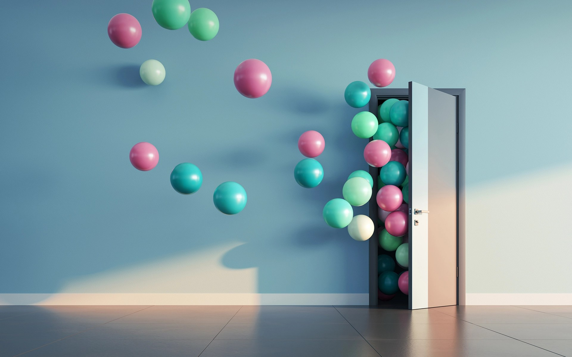 Why Mindfulness Isn't About Control - Balloons fly away through open door