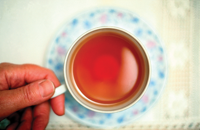 person holding a cup of tea