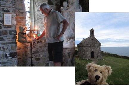 Lighting a Candle for Diddley, St Nons Chapel, Pembrokeshire
