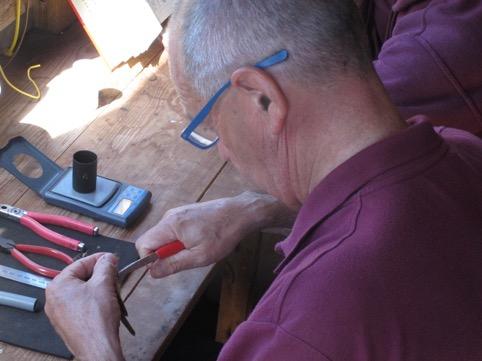 Ringing a Sedge Warbler.