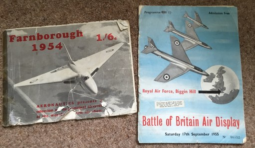 September 1954 - Photograph of the first two Air Show programmes.