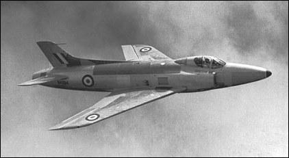 September 1954: Supermarine Swift in flight.