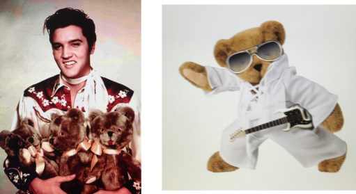 Bertie Meets Toffer: Elvis Presley with Bears, and Elvis Presley Bear!