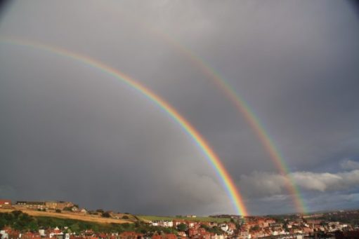 Tick tock. Over the rainbow. Whitby.
