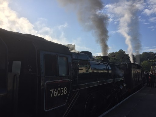 North Yorkshire Moors Railway - NYMR: Early morning Double Header to Pickering.
