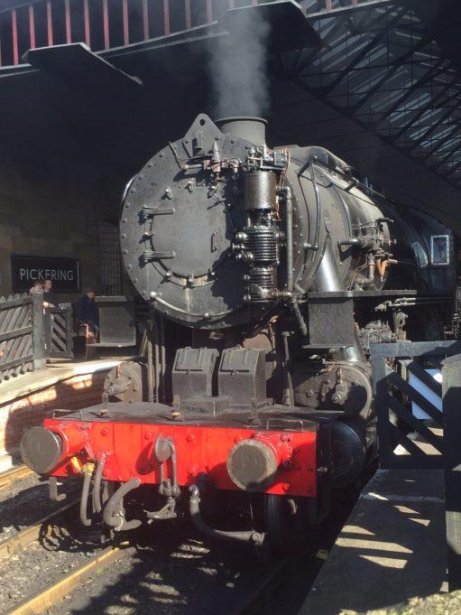 North Yorkshire Moors Railway - NYMR: Wartime Baldwin. A visiting engine. At Pickering.
