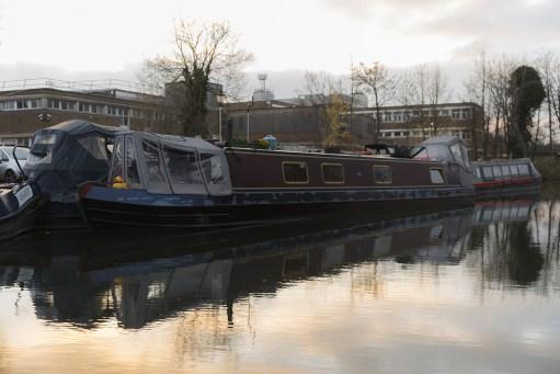 Bobby 2: NB Sola Gratia on her mooring at Newbury Marina.