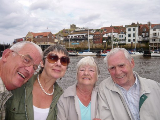 Middlesbrough: Bobby, Diddley, Shelagh & Dennis at Whitby.