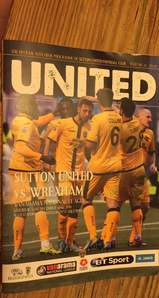 Old Bears - Sutton United Football Programme cover.