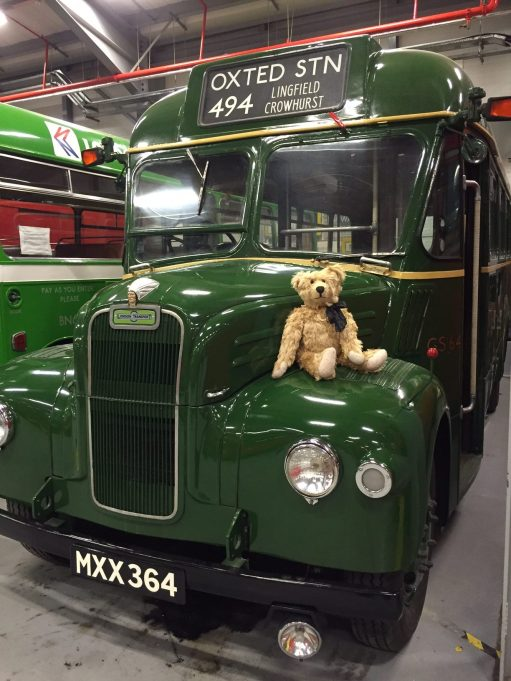 London Transport Museum: GS 64. A GS (Guy Special) country bus for rural routes. MXX 364.