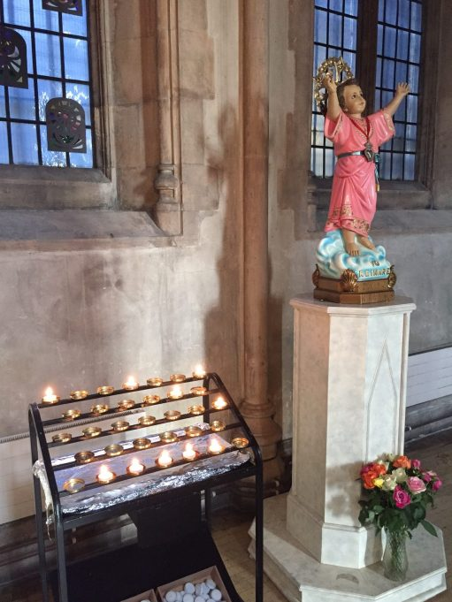 London Transport Museum. Lighting a Candle for Diddley: St George's Cathedral, Southwark.