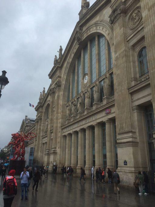 Paris: Gare Du Nord Station Frontage.