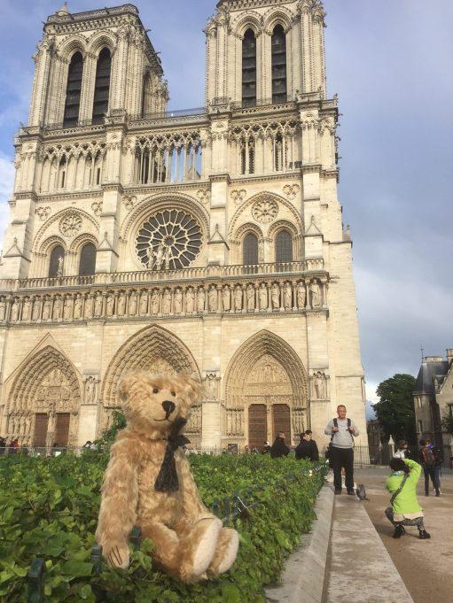 Paris: Outside Notre Dame.