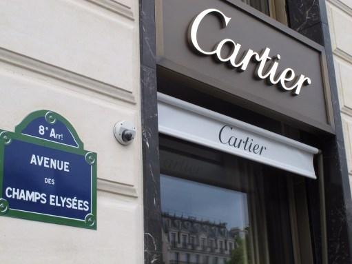 Paris: Expensive Shops in the The Champs Elysées.