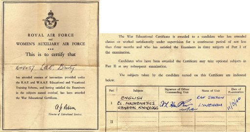 Ernie's War: War Education Certificate.