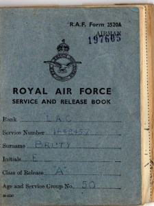 Ernie's War: Picture of Ernie's RAF Service and Release Book.