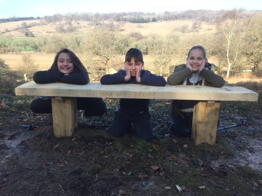 The Bench: Layla, Sonny and Faith.