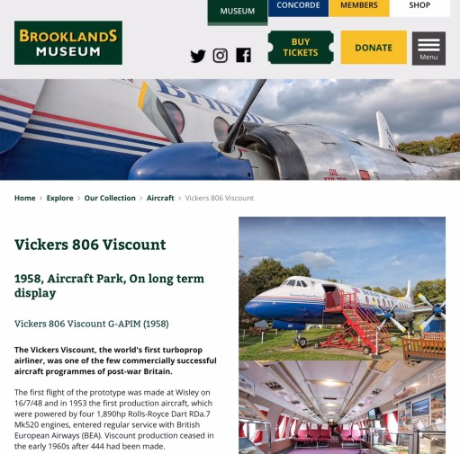 Brooklands: The Viscount.
