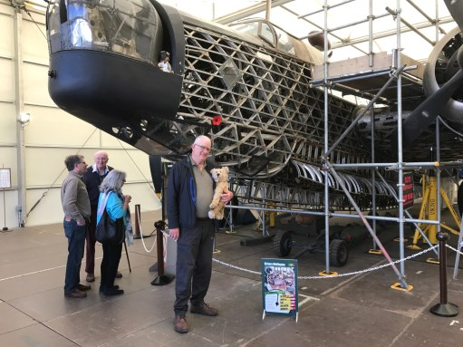 Brooklands: The Loch Ness Wellington bomber (Called Robert). Recovered from a watery grave. The bomber Robert, that is…