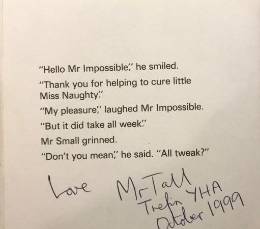 Little White Van: Love Mr Tall, Trefin YHA October 1999.