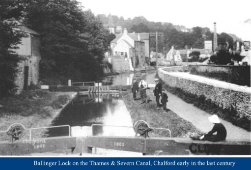 Cotswold Granny: Ballinger Lock on the Thames & Severn Canal, Chalford, in Margaret's youth.