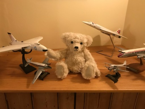 Little White Bear: Amongst Bobby's plane collection.
