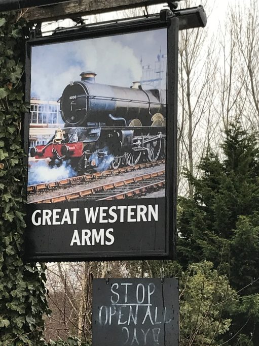 Apricot Village: Echos of days gone by. The Great Western Arms at Aynho Park Station.