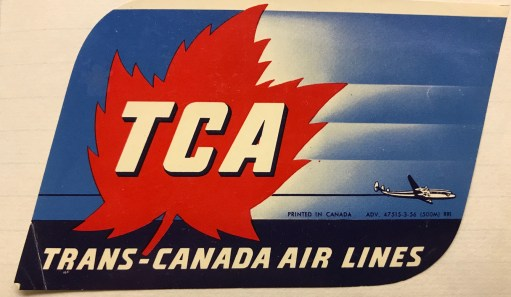 Trevor's Stickies: Trans Canada Air Lines was Canada's flag carrier from 1937 to 1965, when it became Air Canada.