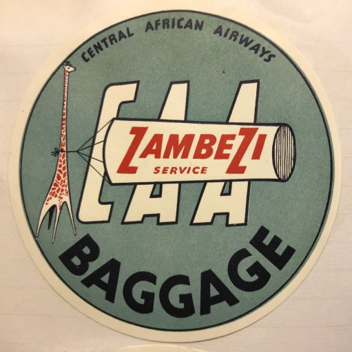 Trevor's Stickies: Central African Airways was formed in 1946. The upheaval of that part of the world led to it ceasing operations in 1967.