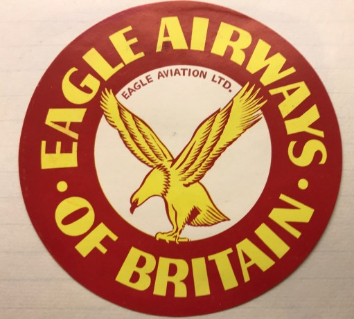 Trevor's Stickies: Eagle Airways 1949. Ceased operations in 1968.