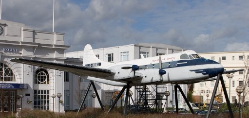Croydon Airport: De Havilland Heron. The plane that flew the last service before the airport closed forever. Just 14 seats.