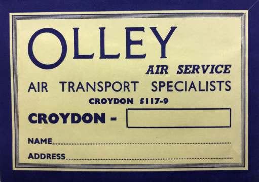 Croydon Airport: Olley Air Service.