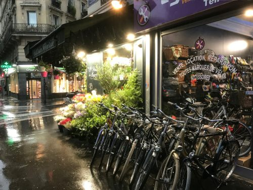 Paris: Flowers ... and Bicycles!