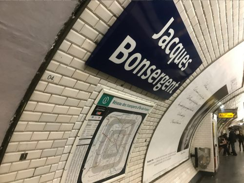 """Paris: We love the Metro and the station names. """"Jacques Bonsergent"""". Named after the first Parisian to be executed by the German occupation in 1940."""