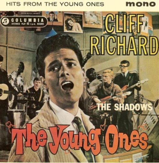 """Sir Cliff Richard: """"Hits from the Young Ones"""" Album Cover. Note - in glorious mono!"""