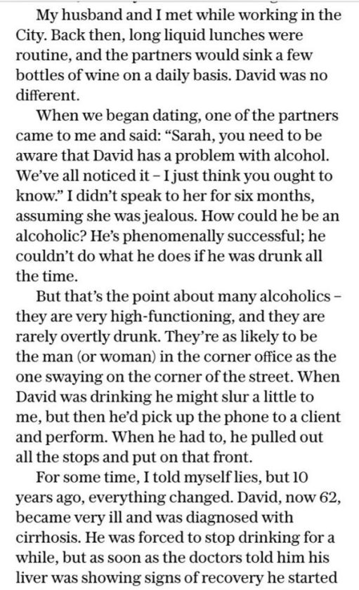 Alcoholic: Telegraph Article.