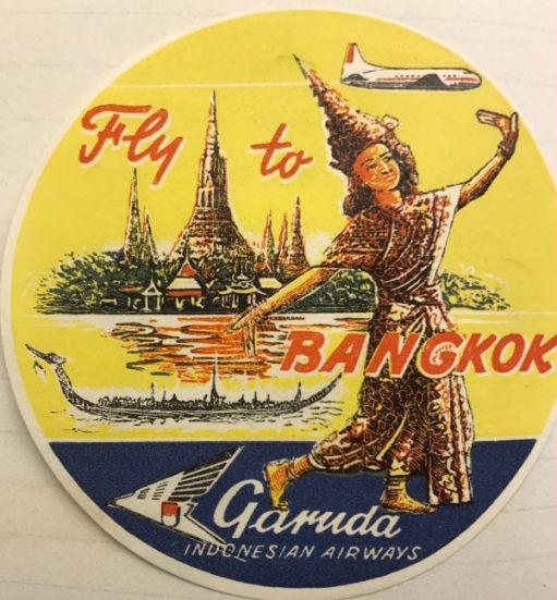 Trevor and Henry: Fly to Bangkok. Garuda. Indonesian Airways.