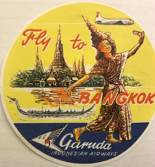 Trevor and Henry: Fly to Bangkok. Garuda. Indonesian Airways.