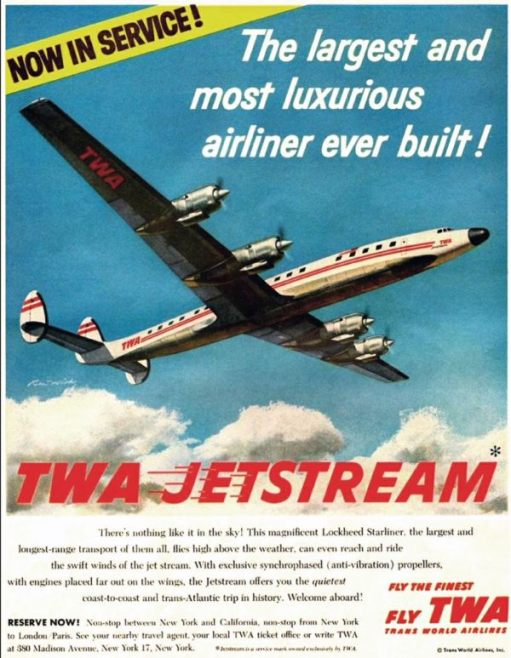 Trevor and Henry: TWA Jetstream Poster.