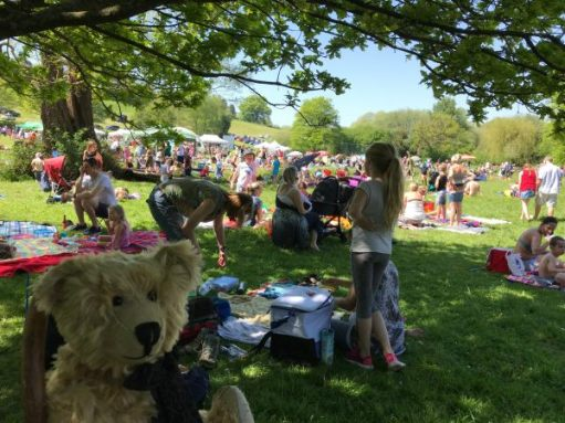 "Teddy Bears' Picnic: ""Corrr. The crowds are arriving."""