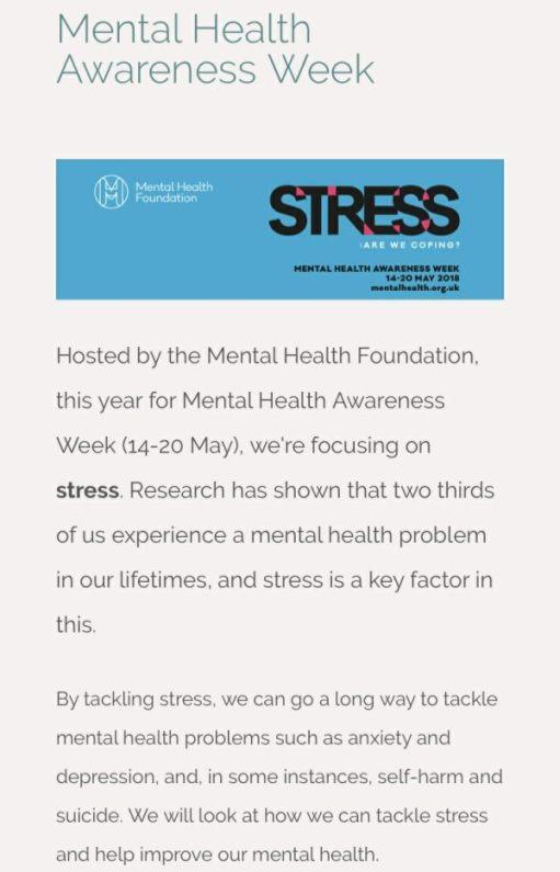 Teddy Bears' Picnic: This coming week is Mental Health Week.