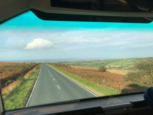 840 to Whitby: I can see Whitby Abbey. I doubt that you can. But the excitement was gathering on the 840 that day.