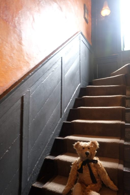 One Hundred: Halfway down the stairs (take 2).