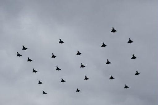 RAF 100: 100, in twenty two Typhoons.