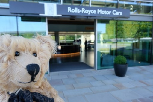 Rolls-Royce: Outside the main entrance.