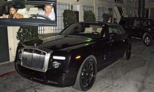 Rolls-Royce: The Beckhams in his customised Phantom. Disgusting, in my opinion. The car, that is.