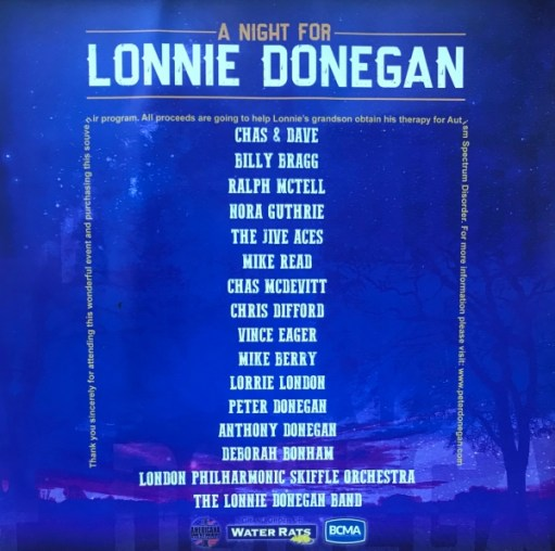 Lonnie Donegan: Union Chapel concert list of artists.