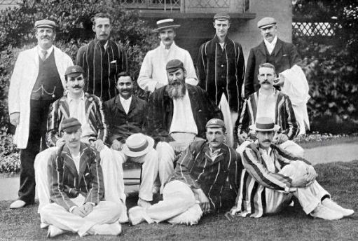 I Woz There: The Gentlemen team, captained by W. G. Grace, which took on the Players at Lord's in 1899. (c) Public Domain.