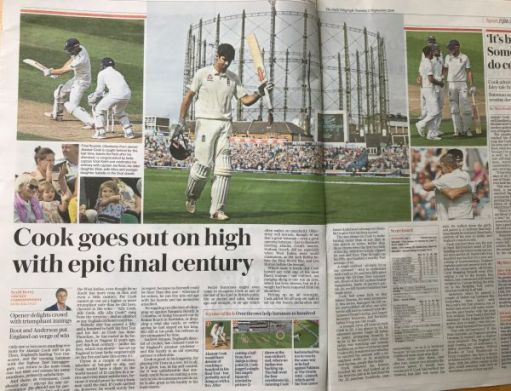 "I woz there: ""Cook goes out on high with epic final century"""